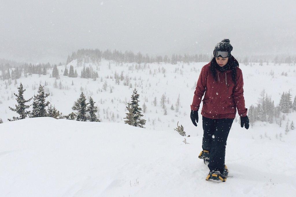 Schneeschuhwandern Kanada Banff