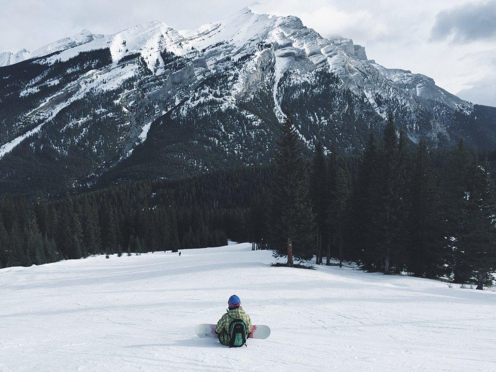 Snowboarden Kanada Banff Mount Norquay