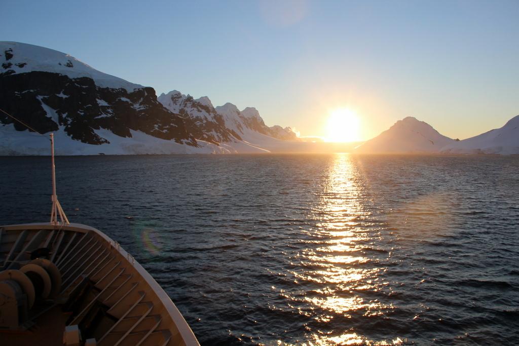 Sonnenuntergang Antarktis Gerache Strait Neumeyer Channel