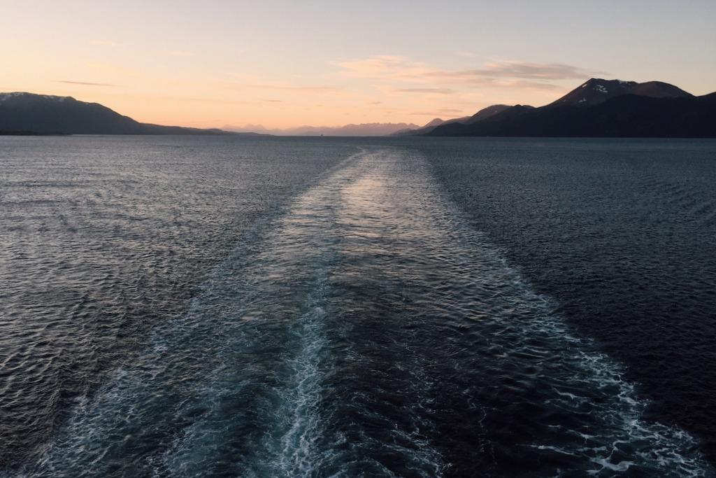 Sonnenuntergang chilenische Fjorde Kreuzfahrt