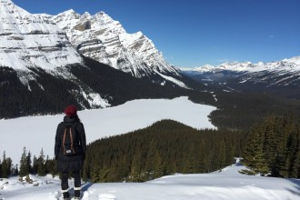 Winter in Kanada Rocky Mountains Winteraktivitaeten