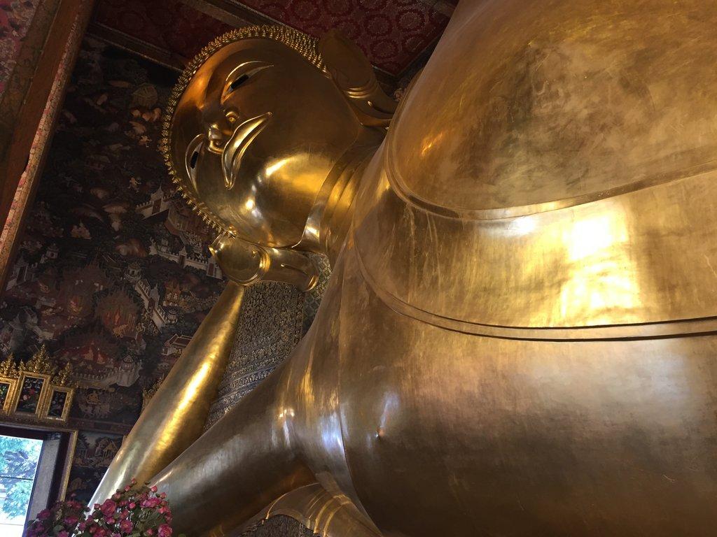 Bangkok Tipps Tempel liegender Buddha