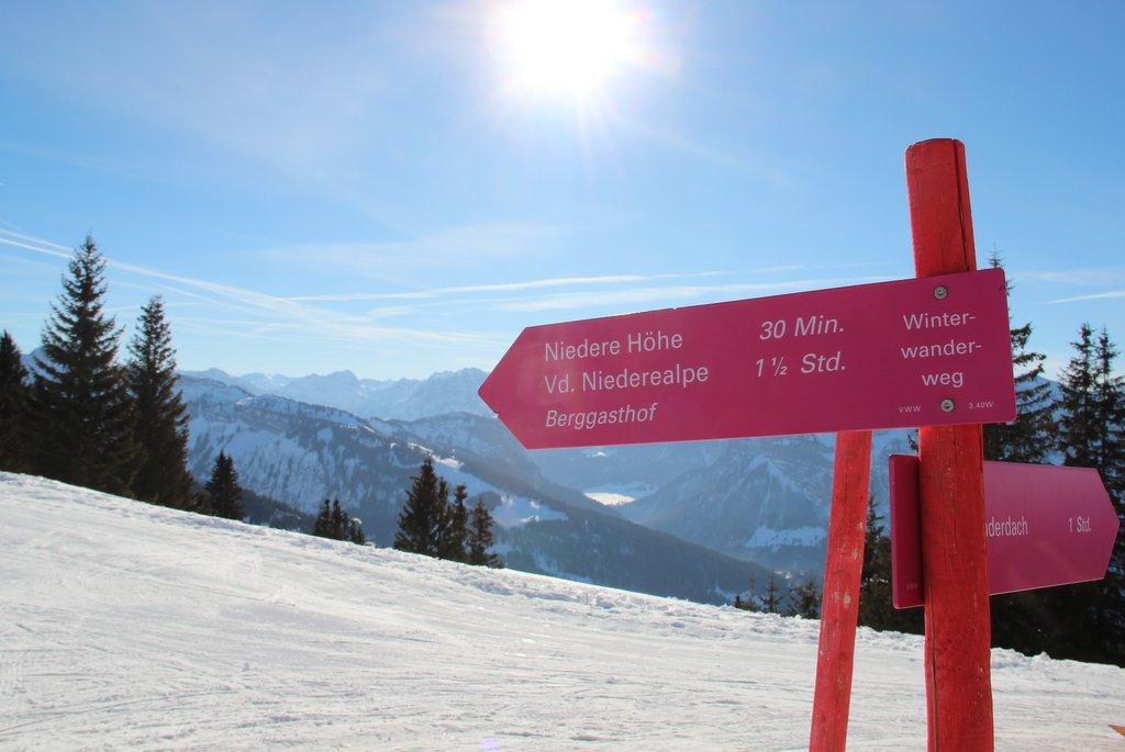Winterwandern Wege Bregenzerwald Bezau Niedere
