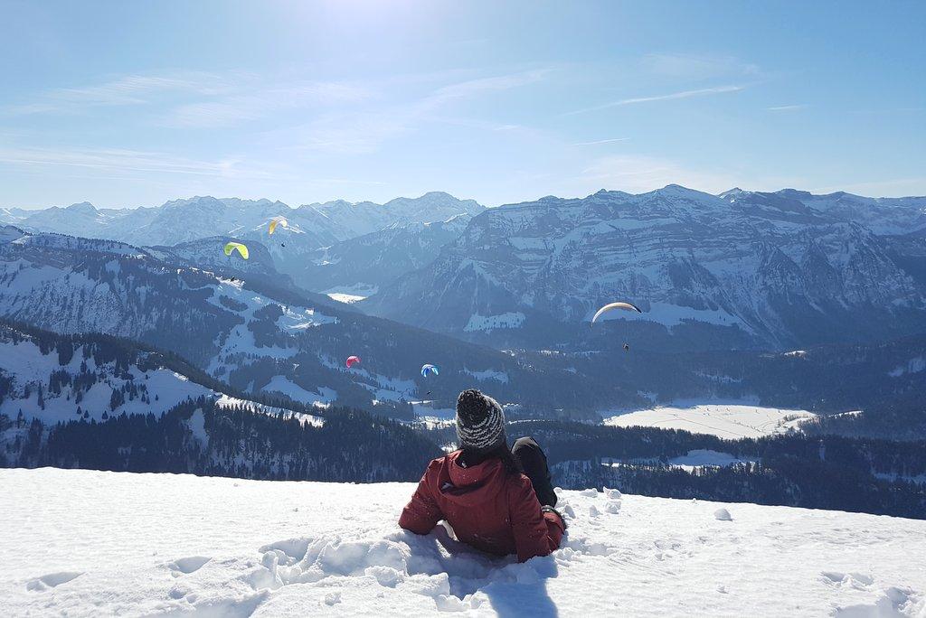 Winterwanderung Bregenzerwald Panorama Bezau