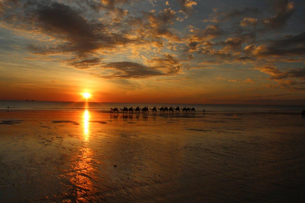 Broome Sonnenuntergang Kamele