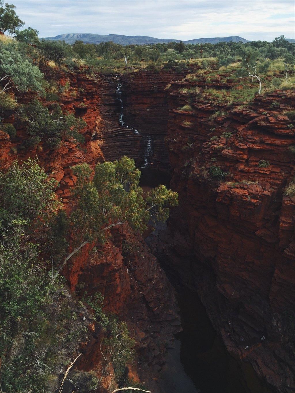 Joffre Gorge Falls Karijini Nationalpark Australien