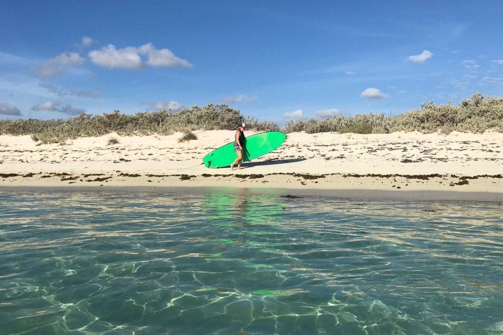 Ningaloo Reef Aktivitaeten SUP paddeln