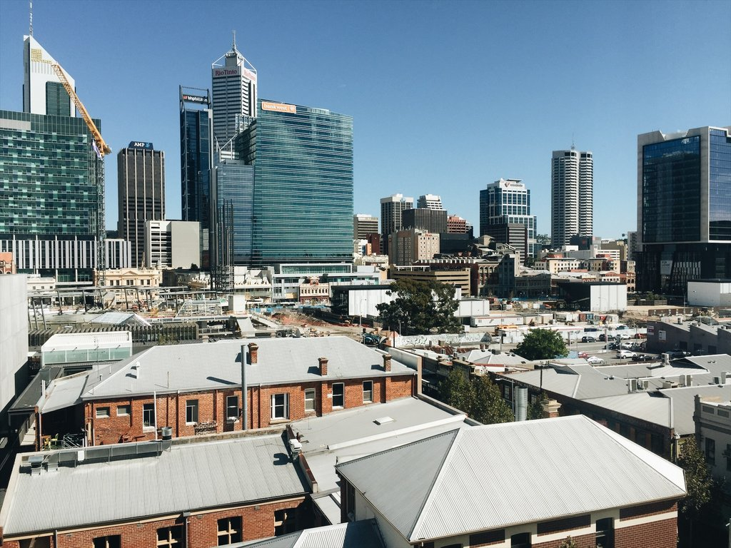 Perth Westaustralien Skyline CBD