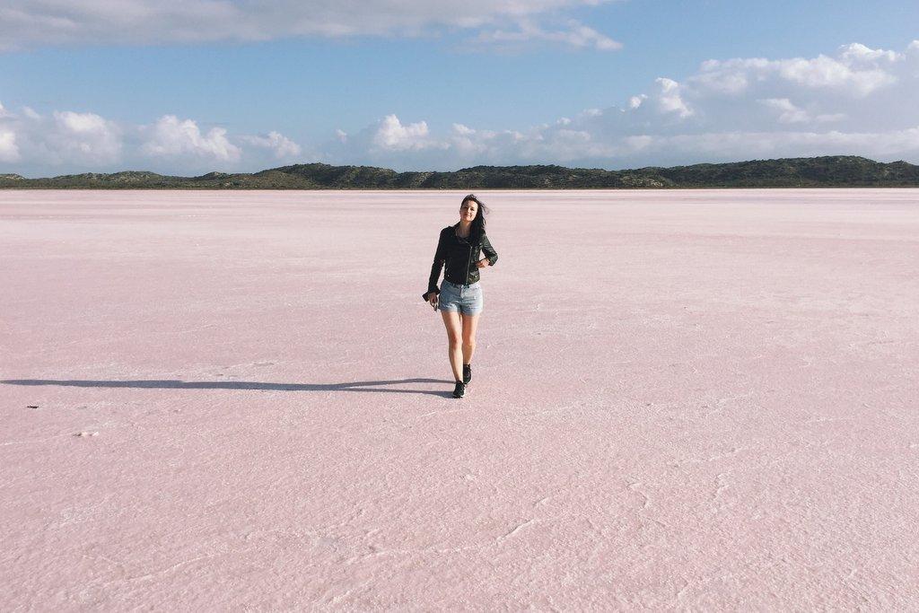 Pink Lake Hutt Lagoon Westaustralien
