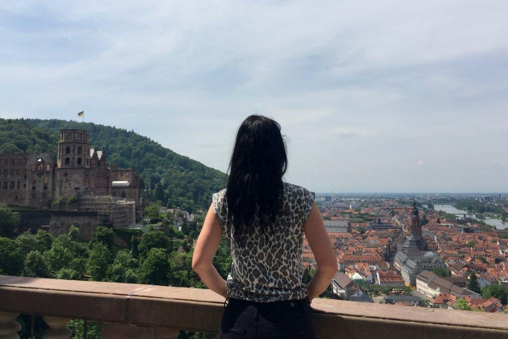 Heidelberg bester Blick auf die Stadt