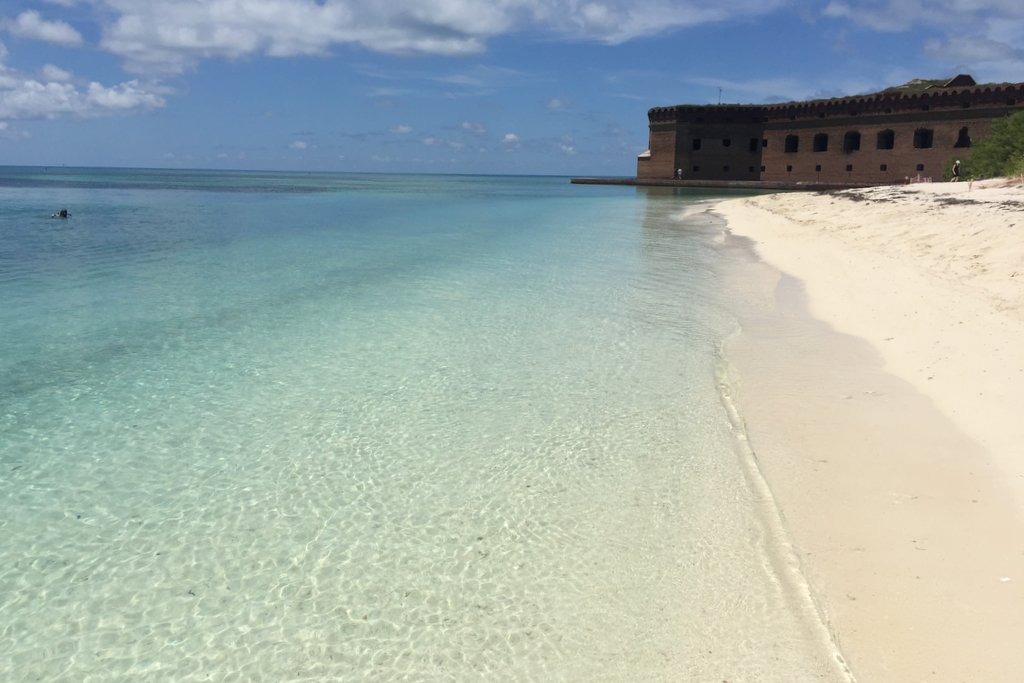 Fort Jefferson Florida Keys Tortugas Beach