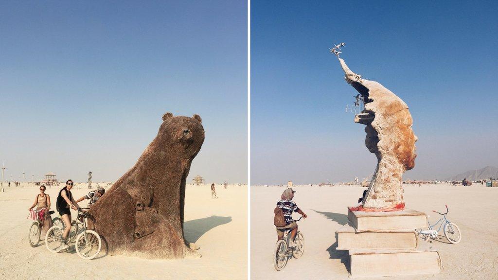Burning Man 2017 Art Penny Bear