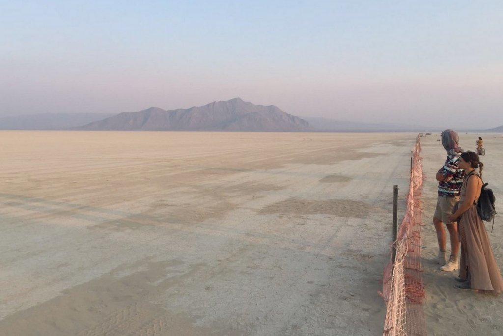 Burning Man Trash Fence