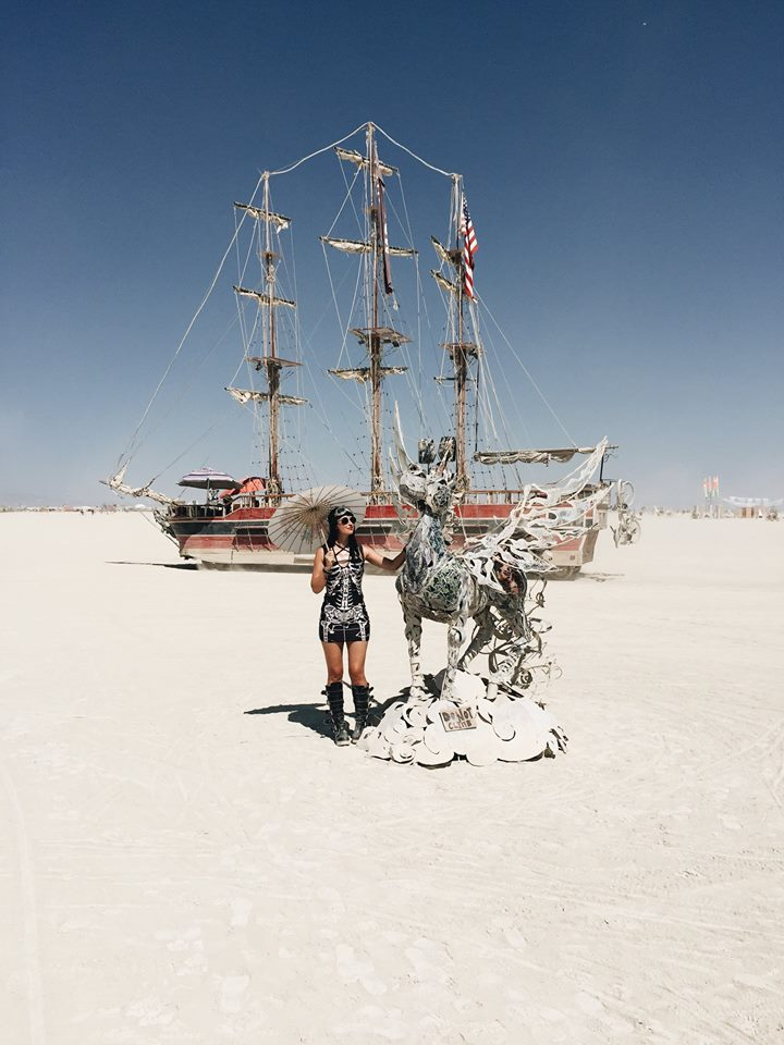 Burning Man Unicorn Pirate Ship Playa Art 2017