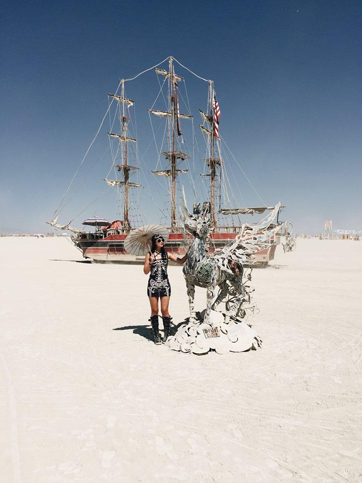 Burning Man Unicorn Pirate Ship Playa Art 2017
