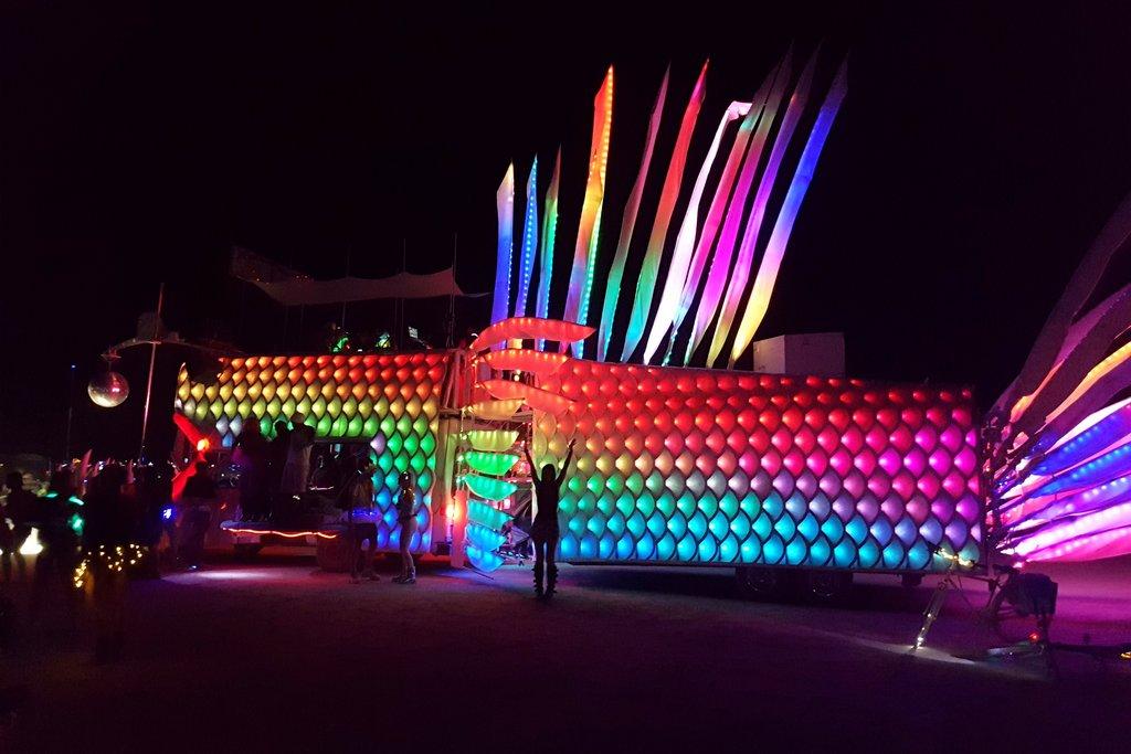 Discofish Mutant Vehicle Burning Man Art Car