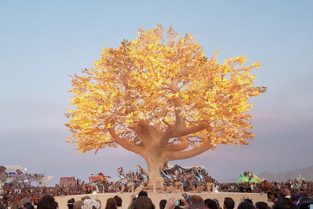 Tree of Tenere Burning Man Kunst 2017