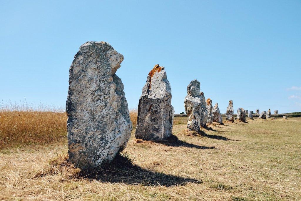 Finistere-Bretagne-Steinreihen-Alignements