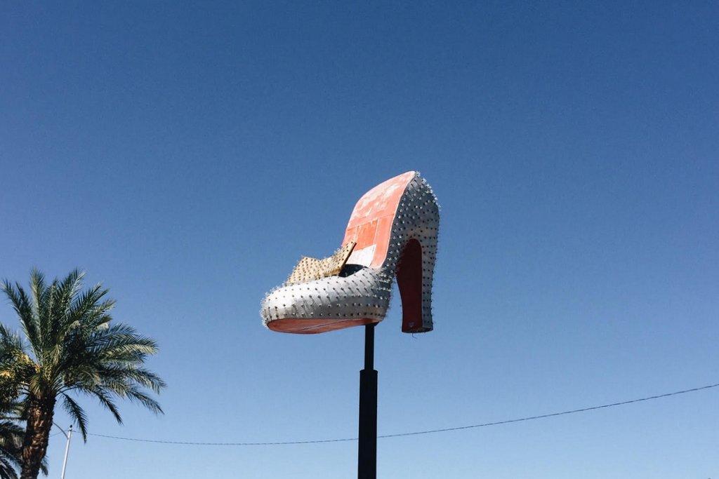 Las-Vegas-Schuh-alte-Leuchtreklame