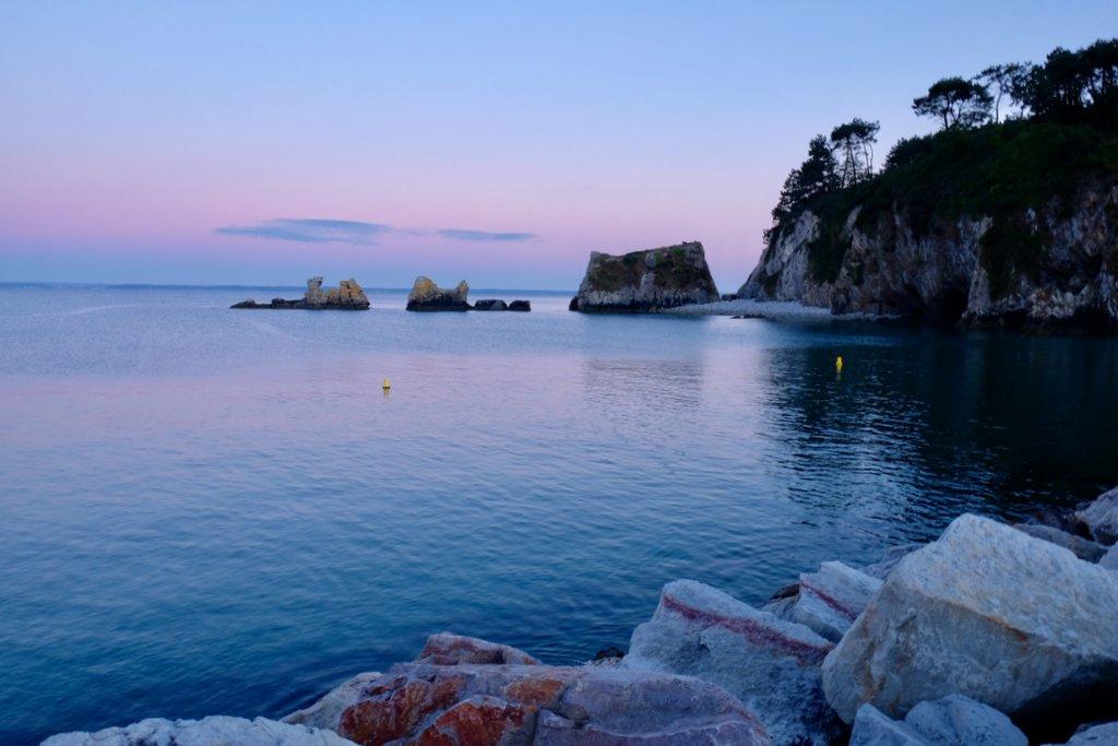 Sonnenuntergang segeln Bretagne Finistere