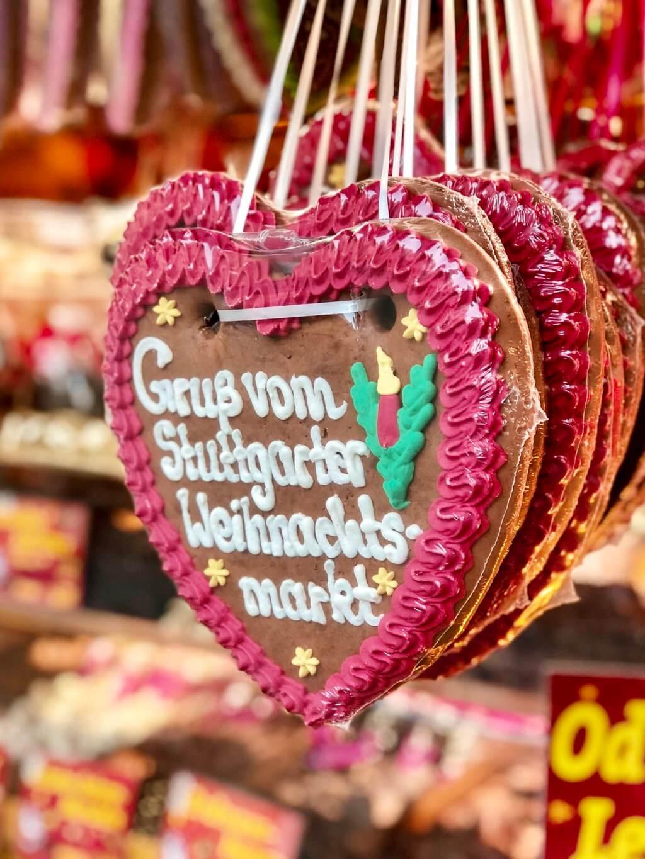 Stuttgarter Weihnachtsmarkt Lebkuchenherz