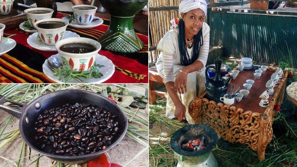 Addis Abeba Kaffeezeremonie