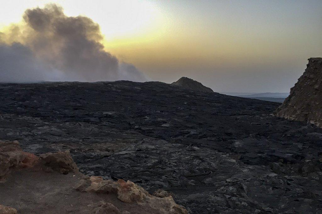 Erta Ale aktiver Vulkan Danakil Krater
