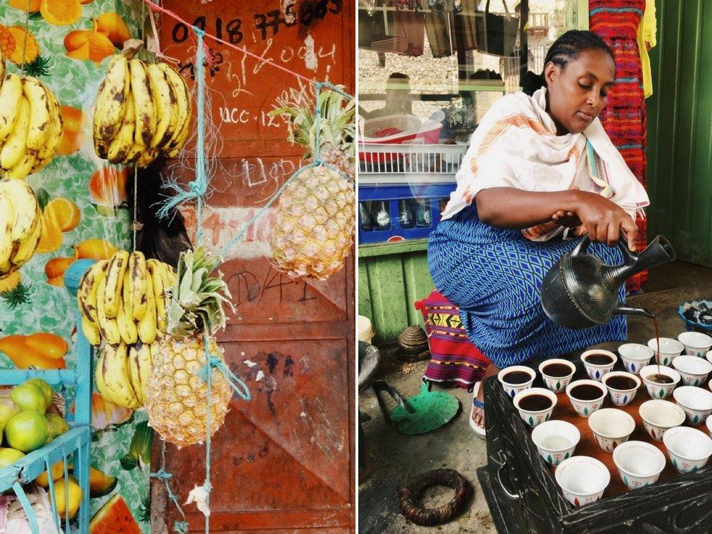 Gondar Aethiopien Markt Kaffee