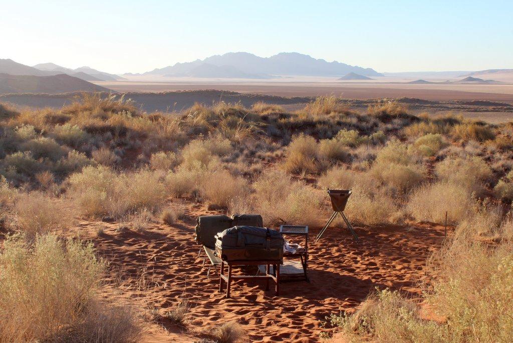 Namibia Wueste Camping unter freiem Himmel