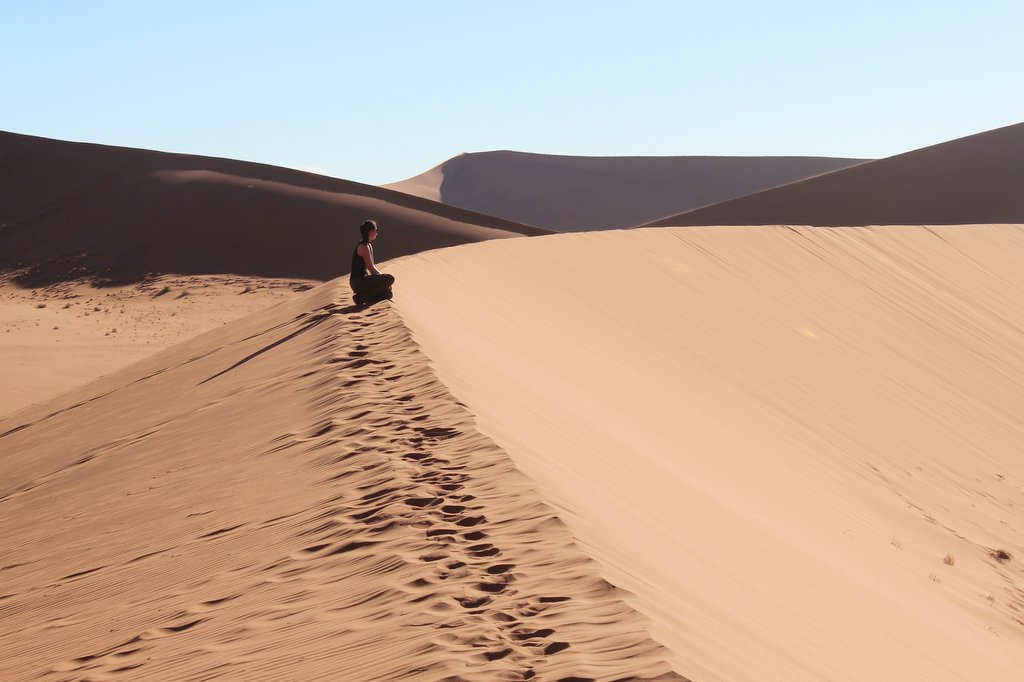 Sossusvlei Sandduenen Namibia Wueste