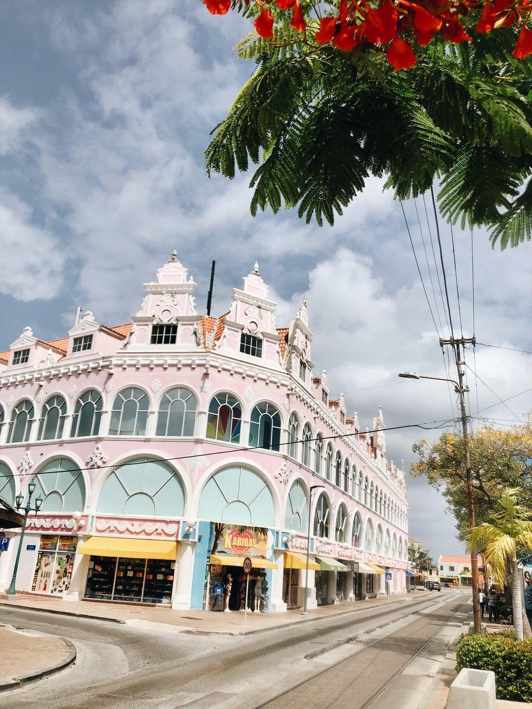 Aruba-Oranjestad-Altstadt-Sehenswuerdigkeiten