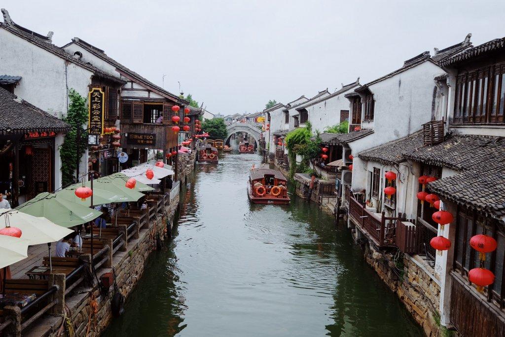 Suzhou-China-Altstadt-Kanal