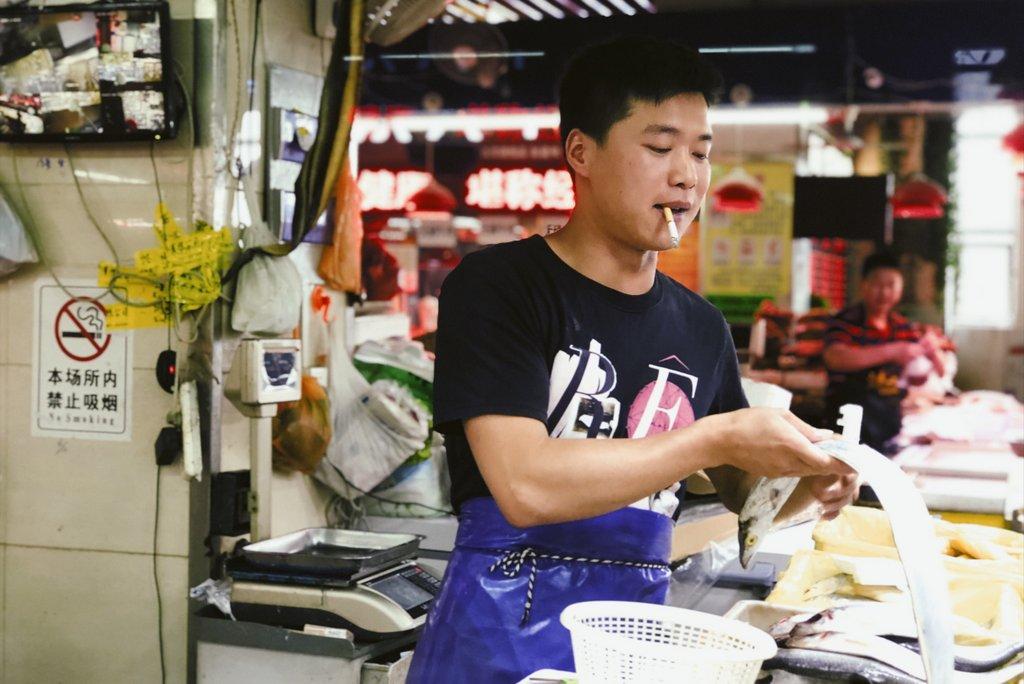Suzhou-China-Besuch-auf-dem-Markt
