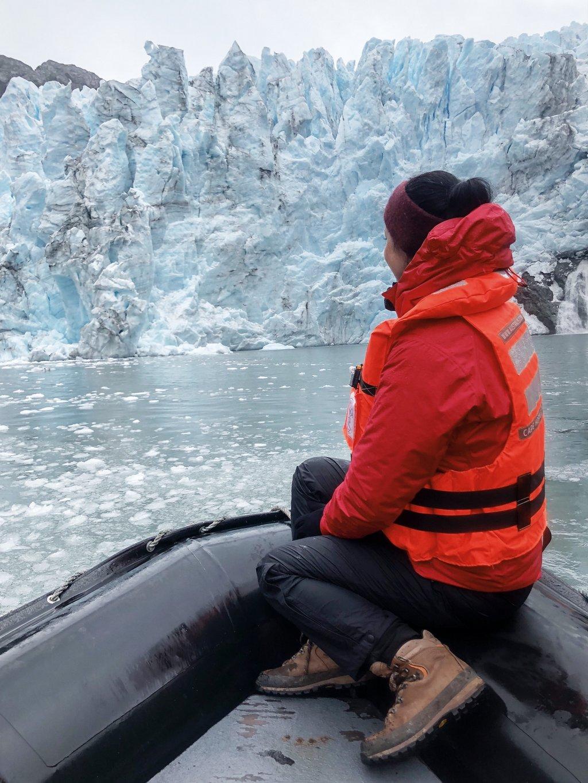 Australis-Exkursion-Zodiac-Condor-Gletscher