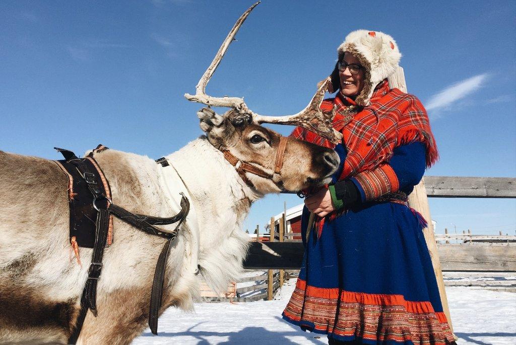 Rentierschlitten-Lappland-Winterurlaub