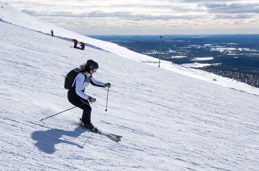 Skifahren-Finnisch-Lappland-Yllas