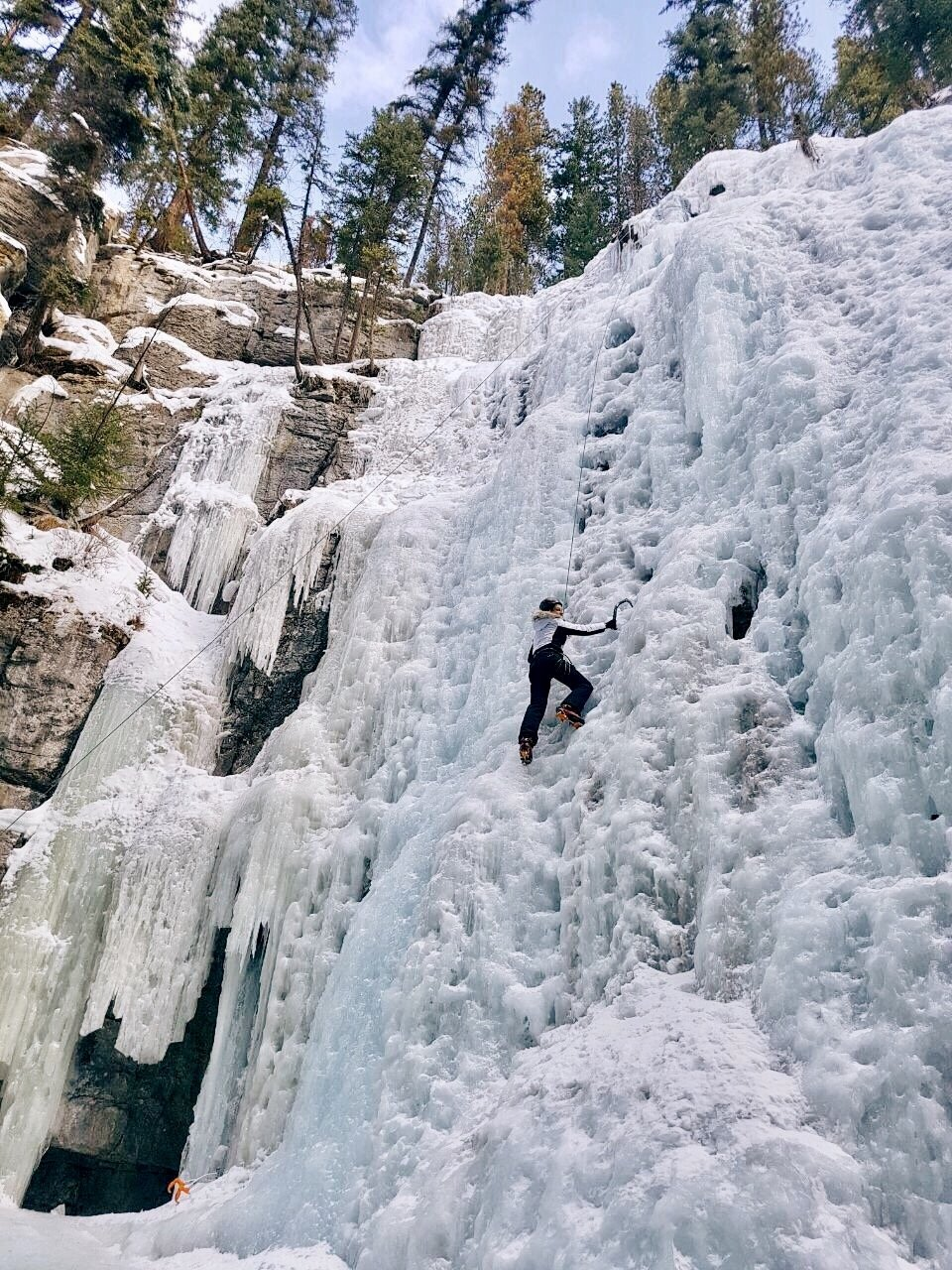 Eisklettern-Maligne-Canyon-Jasper-Kanada
