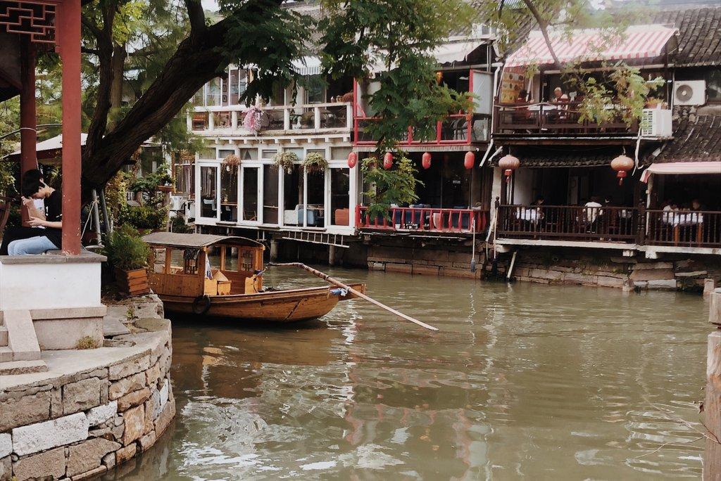 Kanal-Wasserstadt-Zhujiajiao-Shanghai