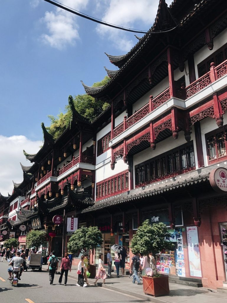 Shanghai-Touristen-Altstadt
