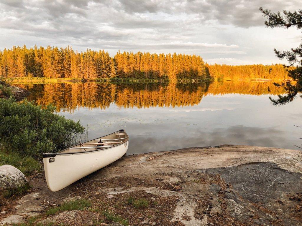 Manitoba-Kanu-paddeln-Sommer