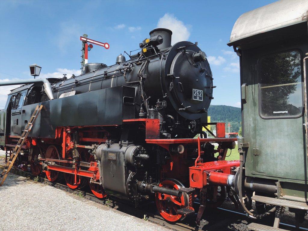 Historischer-Zug-Dampflok-Sauschwaenzlebahn