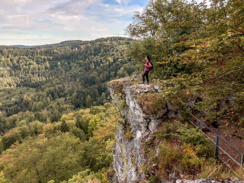 Albstadt wandern Hangender Stein