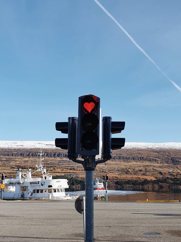 Ampel Herz Akureyri Island