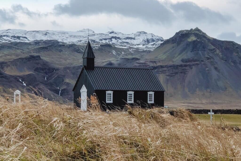 Budirskirkja schwarze Kirche Island