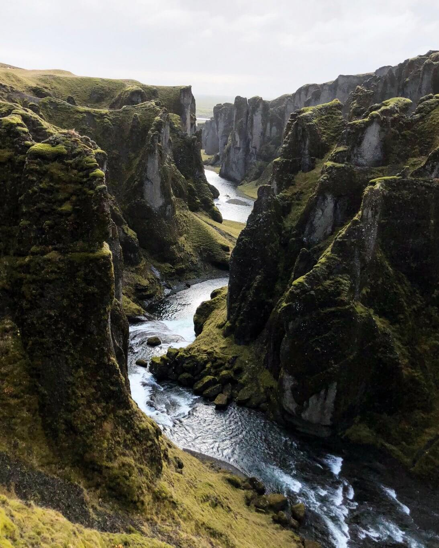 Fjadragljufur Island Ringstrasse