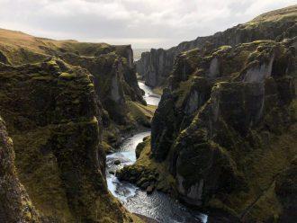 Fjadrargljufur Island