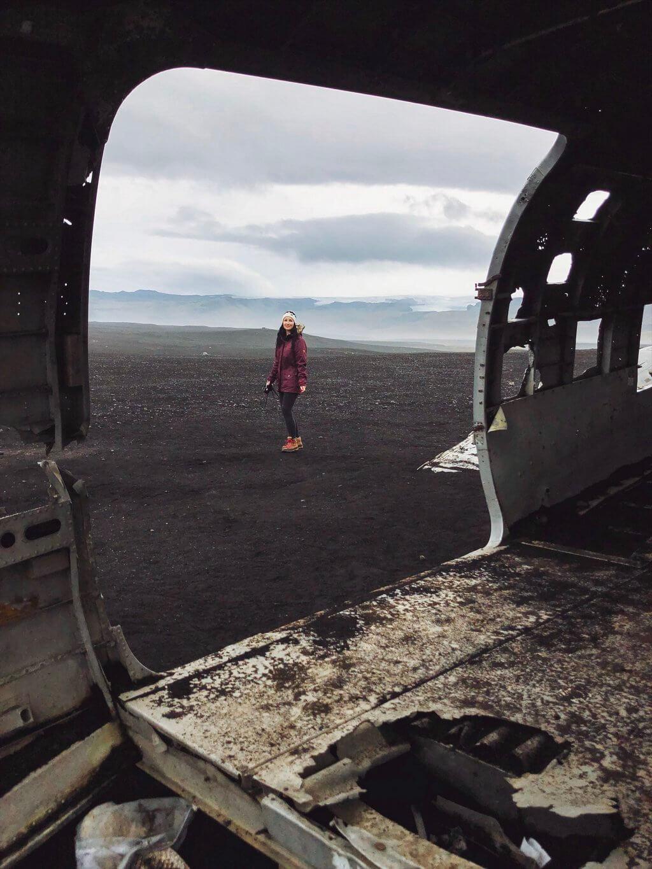 Flugzeugwrack Island Ringstrasse