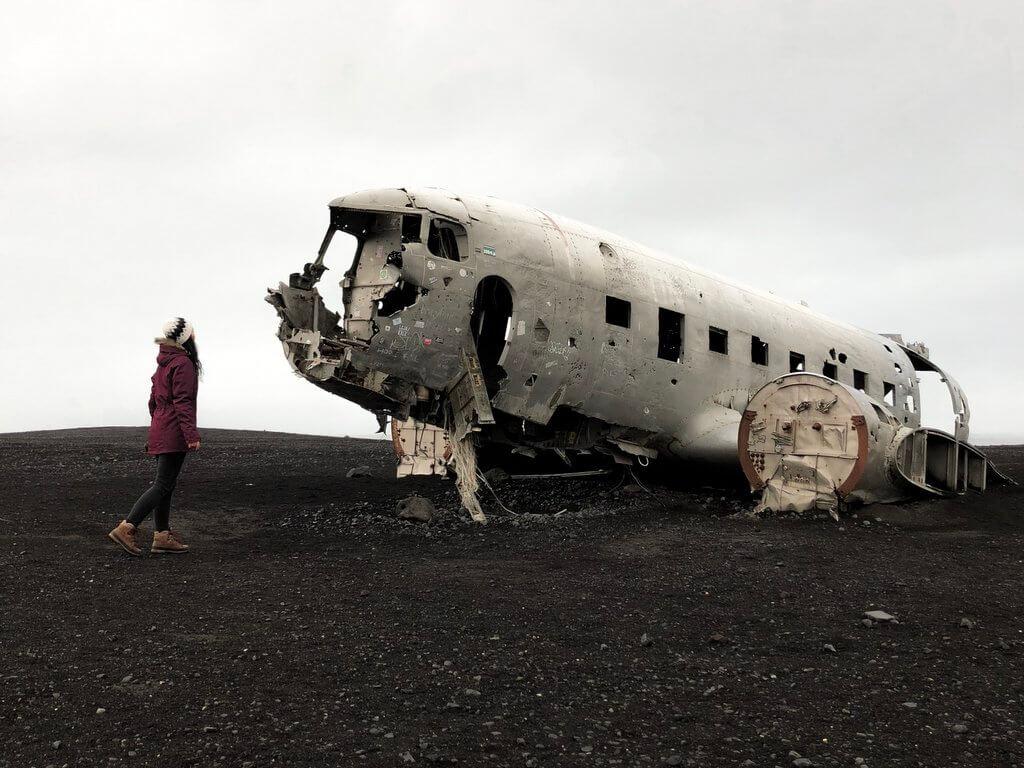 Flugzeugwrack Island Solheimasandur