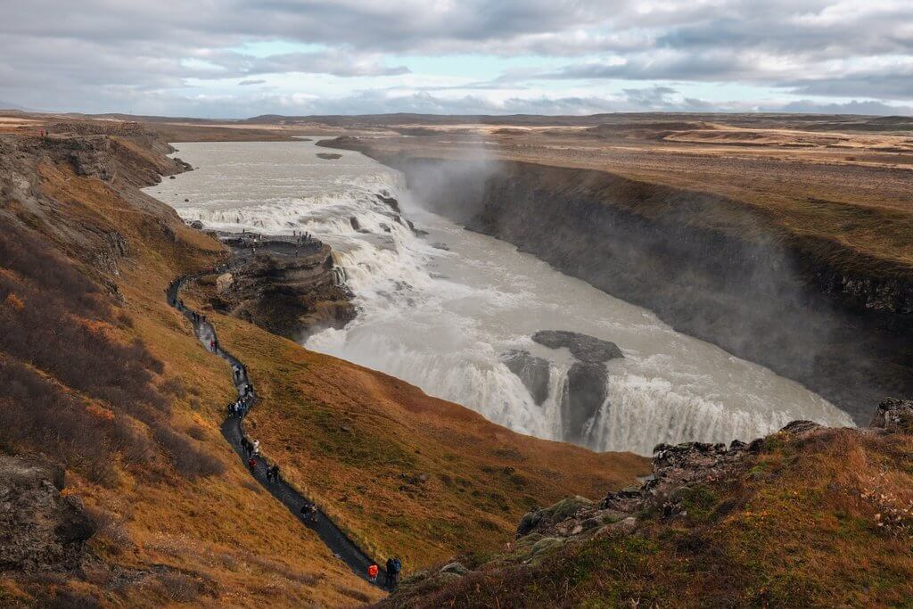 Gullfoss Island Golden Circle