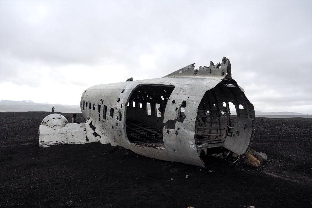 Island Ringstrasse Flugzeugwrack Solheimasandur
